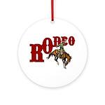 Vintage Rodeo Bronc Rider Ornament (Round)