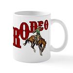 Vintage Rodeo Bronc Rider Mug