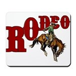 Vintage Rodeo Bronc Rider Mousepad