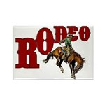 Vintage Rodeo Bronc Rider Rectangle Magnet (10 pac