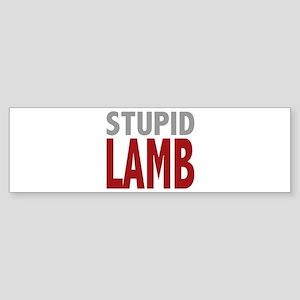 Stupid Lamb Too Twilight Dialog Tag Line Sticker (