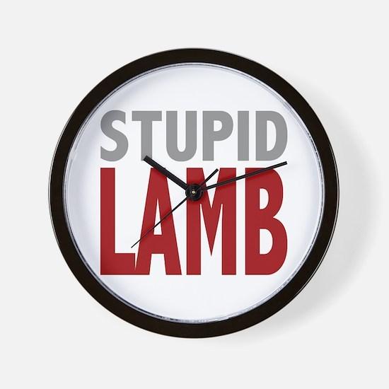 Stupid Lamb Too Twilight Dialog Tag Line Wall Cloc