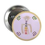 """Chakra Opening & Balancing 2.25"""" Button"""