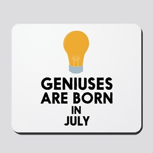 Geniuses are born in JULY C8erf Mousepad