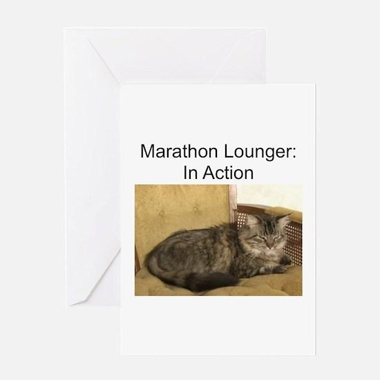 Marathon Lounger Greeting Card