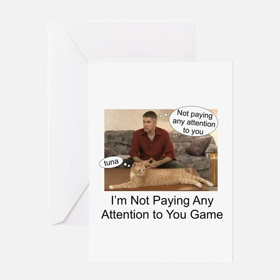 Not paying attention Greeting Card