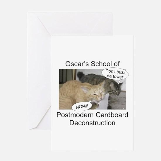 Postmodern Cardboard Deconstr Greeting Card