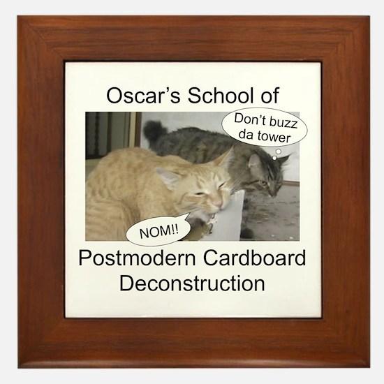 Postmodern Cardboard Deconstr Framed Tile