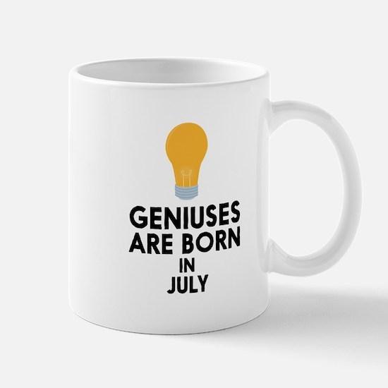 Geniuses are born in JULY C8erf Mugs