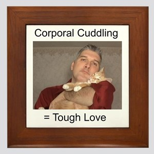 Corporal Cuddling = Tough Lov Framed Tile