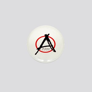 Punk Anarchy 1977 Mini Button