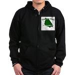 Mackinac Island - It's Never Zip Hoodie (dark)