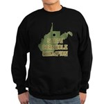 West Virginia State Cornhole Sweatshirt (dark)