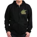 West Virginia State Cornhole Zip Hoodie (dark)