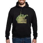 West Virginia State Cornhole Hoodie (dark)