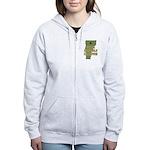 Vermont State Cornhole Champi Women's Zip Hoodie