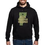 Vermont State Cornhole Champi Hoodie (dark)