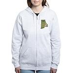 Rhode Island State Cornhole C Women's Zip Hoodie