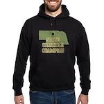 Nebraska State Cornhole Champ Hoodie (dark)