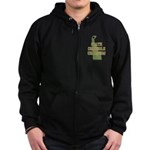 Delaware State Cornhole Champ Zip Hoodie (dark)