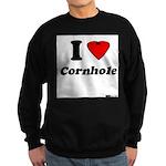 I Love Cornhole - Perspective Sweatshirt (dark)