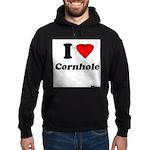 I Love Cornhole - Perspective Hoodie (dark)