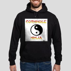 Cornhole Ninja Hoodie (dark)