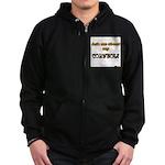 Ask me about my Cornhole Zip Hoodie (dark)