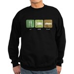 Eat Sleep Crash Cars Sweatshirt (dark)