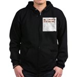 I Will Not Sit At The Kiddy T Zip Hoodie (dark)