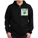 I'm not drunk, I'm Irish Zip Hoodie (dark)