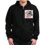 Warning Choking Hazard Zip Hoodie (dark)