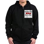 Ninja That's Why Zip Hoodie (dark)