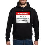 Warning Wildly Inappropriate Hoodie (dark)