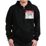 Warning This Shirt Contains N Zip Hoodie (dark)