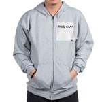 This Guy Doesn't Give A Crap Zip Hoodie