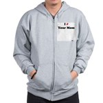 I Pound Your Mom Zip Hoodie