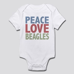 Peace Love Beagles Dog Owner Infant Bodysuit