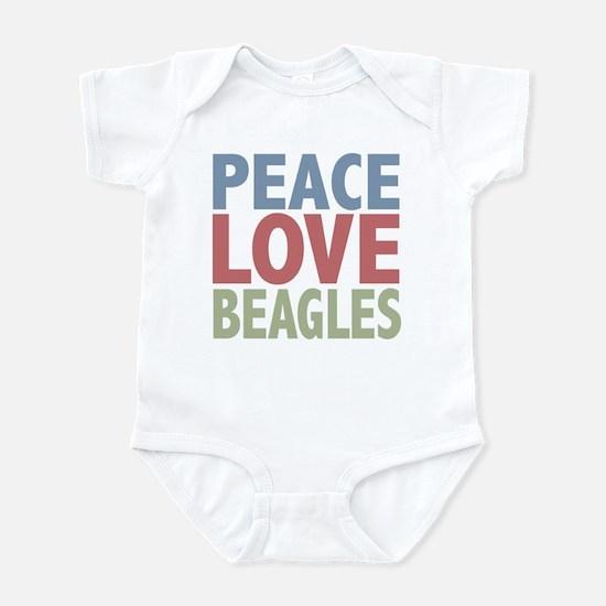 Peace Love Beagles Dog Owner Infant Bodysuit