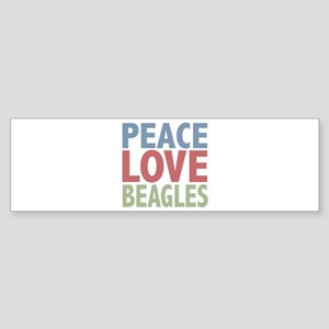 Peace Love Beagles Dog Owner Bumper Sticker