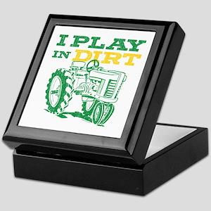 Play In Dirt Tractor Keepsake Box
