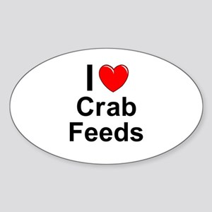 Crab Feeds Sticker (Oval)