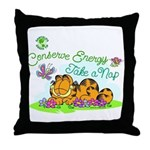 Conserve Energy Throw Pillow