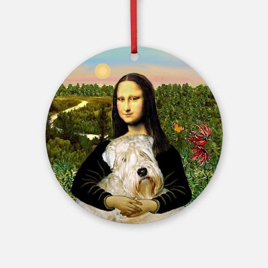 Mona's Wheaten Terrier Ornament (Round)