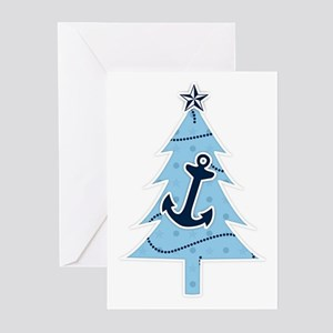Navy Christmas Tree Greeting Cards (Pk of 20)