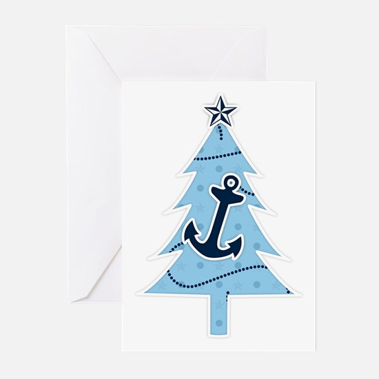 Navy Christmas Tree Greeting Cards (Pk of 20)