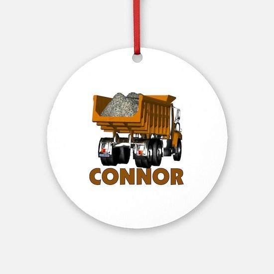 Connor Construction Dumptruck Ornament (Round)