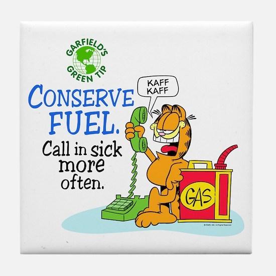 Conserve Fuel Tile Coaster