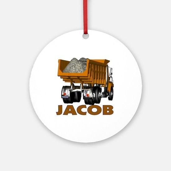 Jacob Dumptruck Ornament (Round)