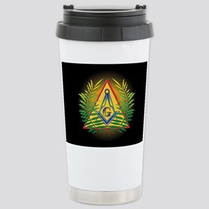 Pyramid, Sun, Acacia Stainless Steel Travel Mug